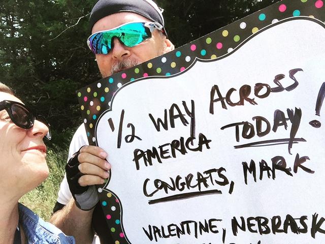Halfway in Valentine, Nebraska!